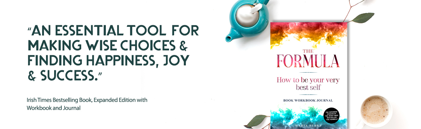 """Ad graphic for The Formula Book Workbook Journal with writing """" An essential tool for making wise choices & finding happiness, joy & success"""