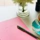 journaling for mental health badlymadebooks pink notebook
