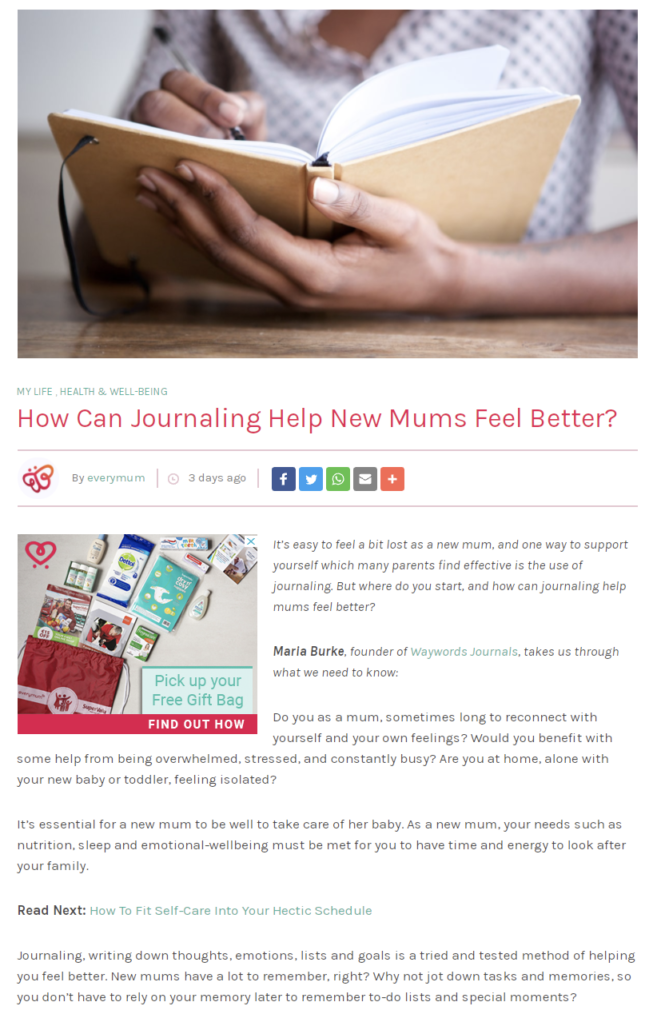 Maria Burke Article Every Mum 2 March 21