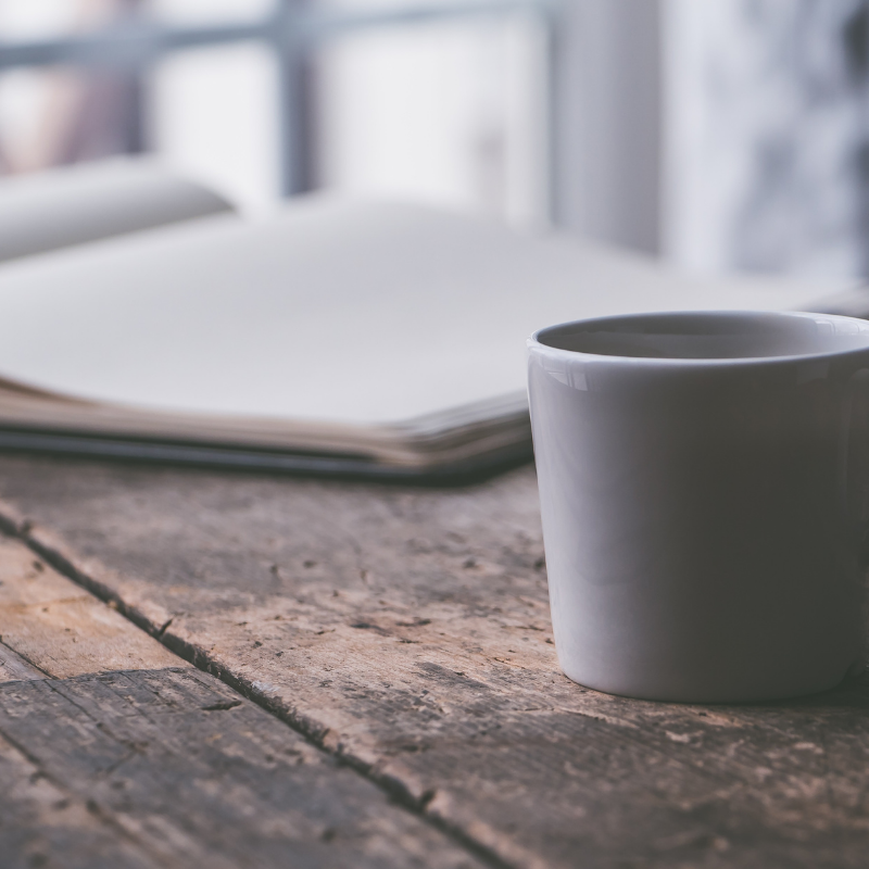 journaling over coffee